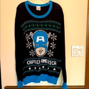 Marvel Captain America XMAS Ugly Sweater Men's XL